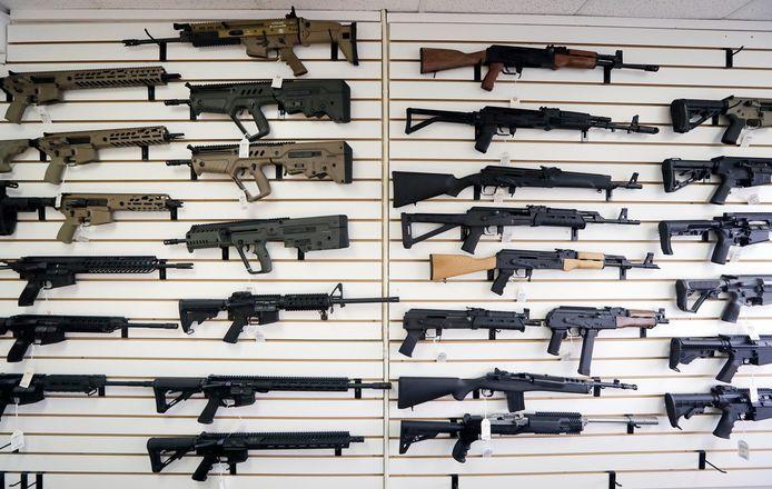 De meeste moorden in de VS worden gepleegd met vuurwapens.