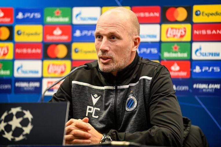 Philippe Clement op zijn perspraatje voor Dortmund. Beeld Photo News