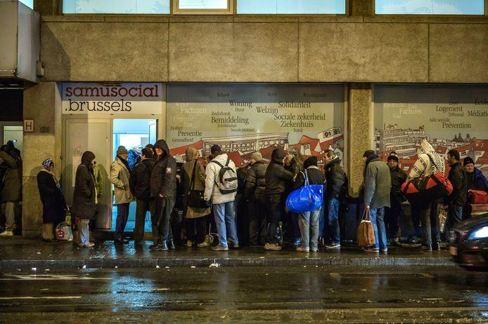 Archiefbeeld - Start winteropvang daklozen Samusocial in Brussel in 2016