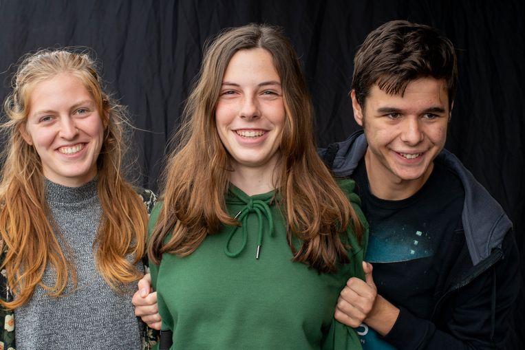 Marijn, Jeltje en Jurre Beeld Vera Duivenvoorden