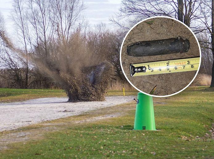 De granaat werd tot ontploffing gebracht bij Strand Horst.