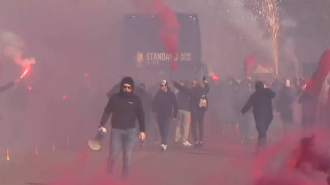 """Standard-fans troepen samen met vuurwerk,  Marc Van Ranst vindt het vooral slecht voor perceptie: """"Waar was de burgemeester van Luik?"""""""