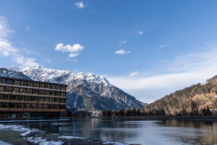 Het Illwerke Zentrum Montafon is een van de opvallendste gebouwen in de vallei. Het bureau van de lokale elektriciteitsmaatschappij is een opmerkelijk staaltje houtbouw.  Beeld rv