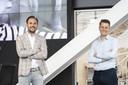 Gijs Westerbeek (links), ceo van Adwise en de nieuwe commercieel-directeur Jan Smit