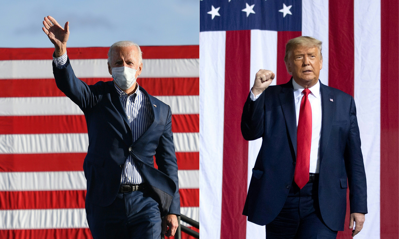 Joe Biden en Donald Trump Beeld AFP
