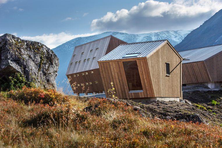 De bijzondere vorm van de cabins maakt ze extra bestand tegen extreme weersomstandigheden. Beeld Jan M Lillebø