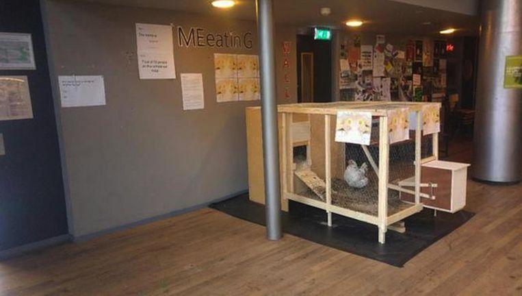 Jip in de aula van de Amsterdamse theaterschool. Beeld -