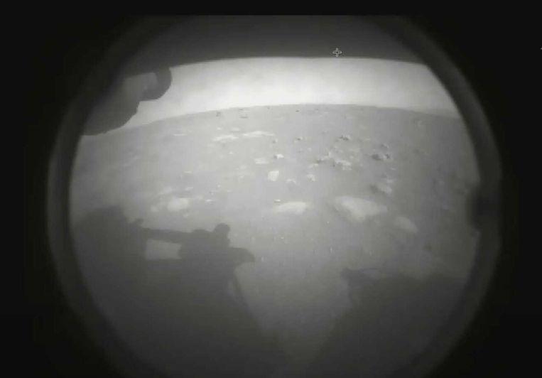 Perseverance stuurde al enkele foto's van Mars naar de aarde. Beeld NASA