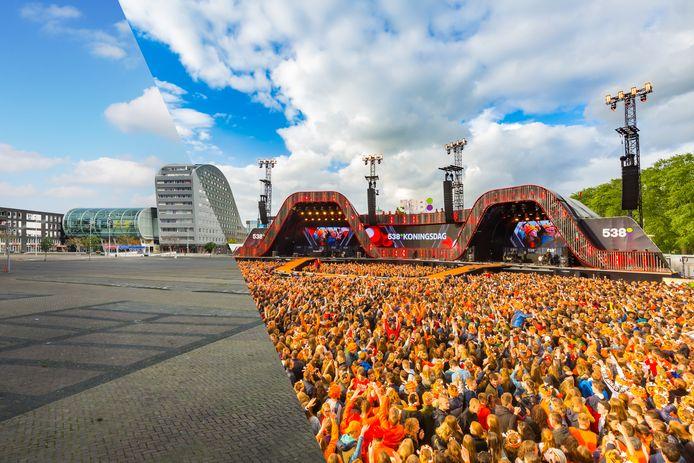Waar de laatste jaren het Chasséveld gevuld was met duizenden mensen voor het 538 Koningsfeest, is het nu - ten gevolge van de Coronacrisis - angstvallig leeg.