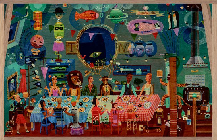 'Feest in de wolken' van Tom Schamp. Beeld RV Tom Schamp