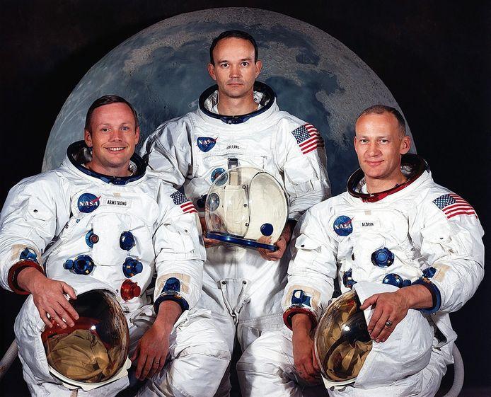 Astronauten Neil Armstrong, Michael Collins en Edwin Aldrin Jr.