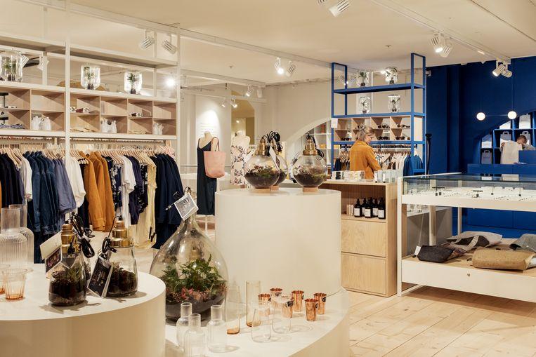 De winkel van Hutspot in Magna Plaza. Beeld Jakob Van Vliet