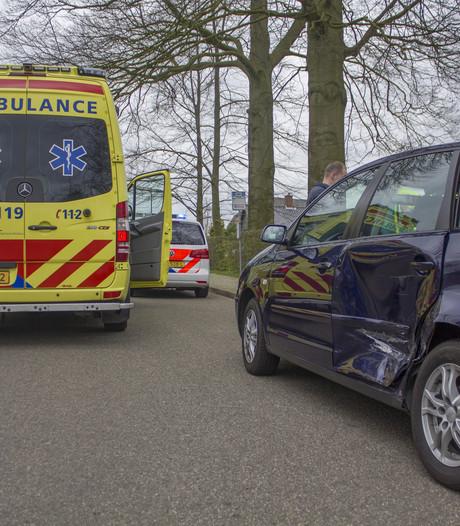 Auto's beschadigd door botsing in Spankeren