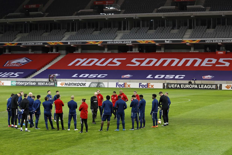 Ajax trainde woensdagavond in het stadion van Lille.
