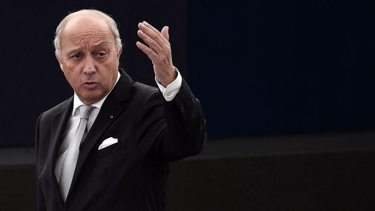 Laurent Fabius, de Franse minister van Buitenlandse Zaken. Beeld AFP
