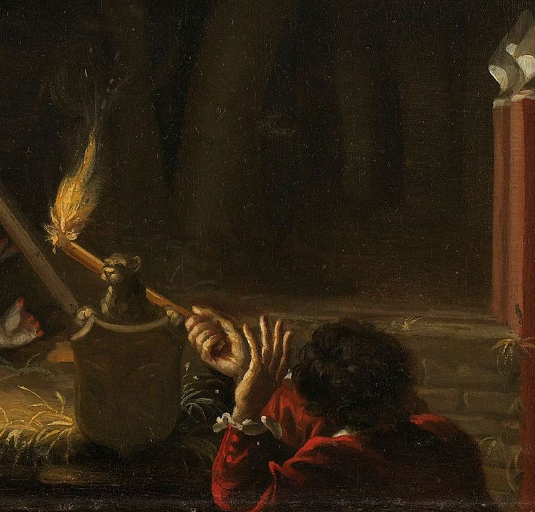 Detail uit De lijken van de gebroeders De Witt. Beeld Rijksmuseum