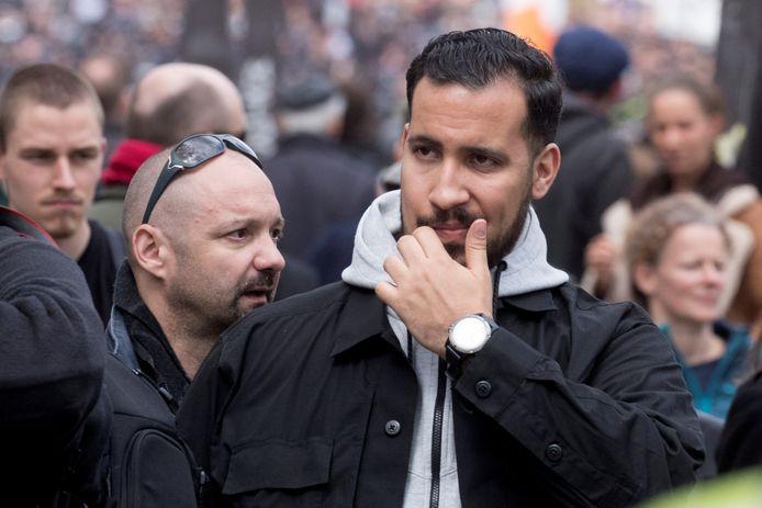 Alexandre Benalla (midden) en Vincent Crase (links)