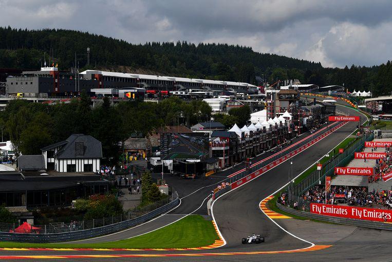Het circuit van Spa-Francorchamps.