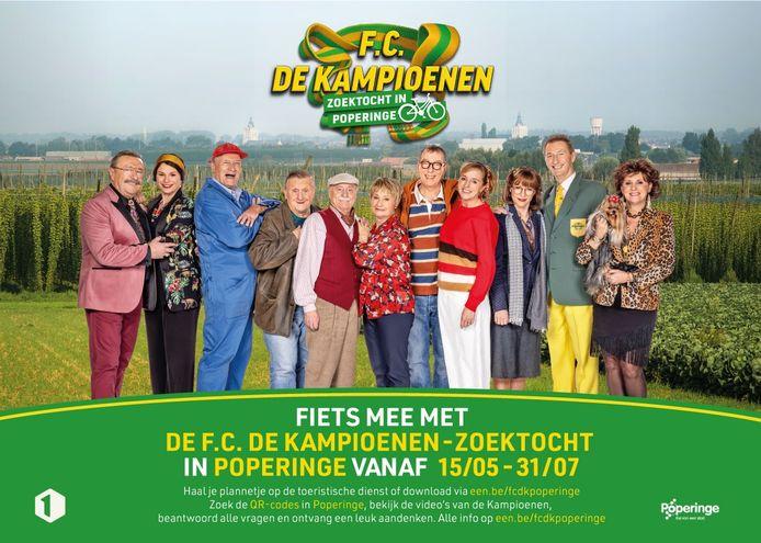 De populaire tv-reeks F.C. De Kampioenen komt naar Poperinge met een zoektocht voor jong en oud.