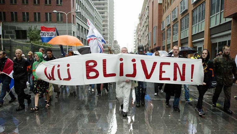 De gemeente Den Haag en de politie gaan deze week praten met de zeven groeperingen die op 20 september willen demonstreren in de hofstad. Beeld anp