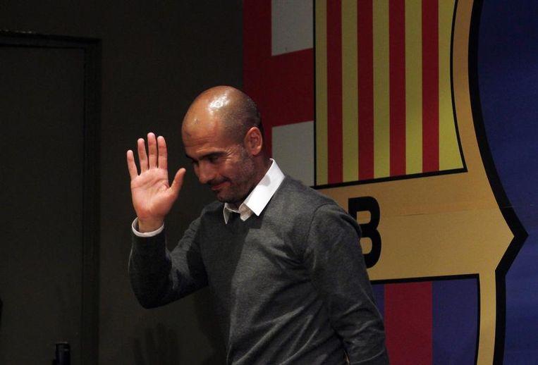 Pep wuift uit als meest succesvolle Barça-coach ooit Beeld REUTERS