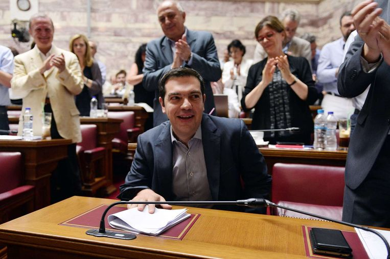 Alexis Tsipras. Beeld AFP