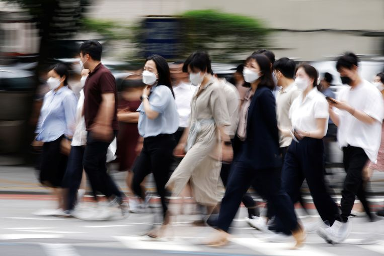 Forenzen in Seoul, Zuid-Korea. Beeld Kim Hong-Ji / REUTERS