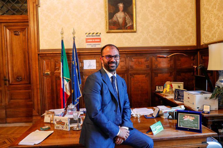 De Italiaanse onderwijsminister Lorenzo Fioramonti. Beeld REUTERS