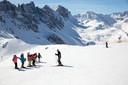 Voorlopig blijft het dromen van besneeuwde bergen voor Nederlandse skifans, zoals deze in in Axamer Lizum, Oostenrijk.