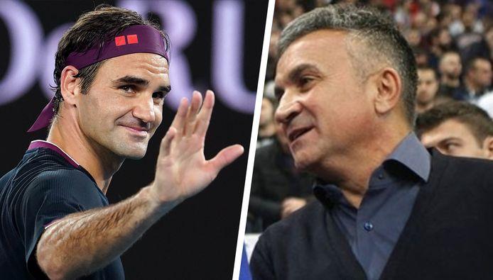 Roger Federer en Srdjan Djokovic.
