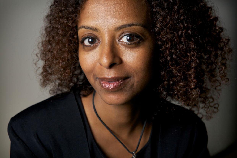 Maaza Mengiste op het writers unlimited festival in Den Haag.