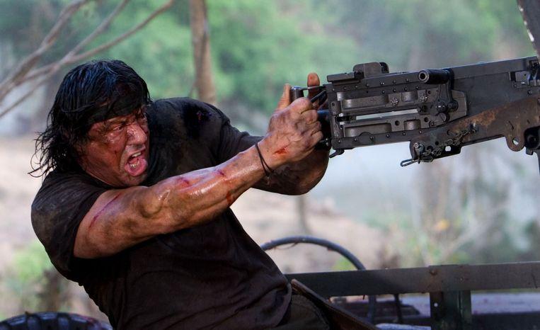 Sylvester Stallone in het door hemzelf geregisseerde Rambo. Beeld