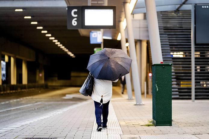 Lege stations als gevolg van de stakingen in het openbaar vervoer.