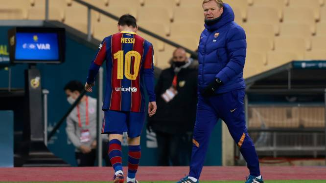 """Barcelona-coach Koeman: """"Messi heeft zelf zijn toekomst in handen"""""""
