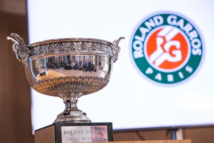 De trofee voor de winnaar van het mannentoernooi.