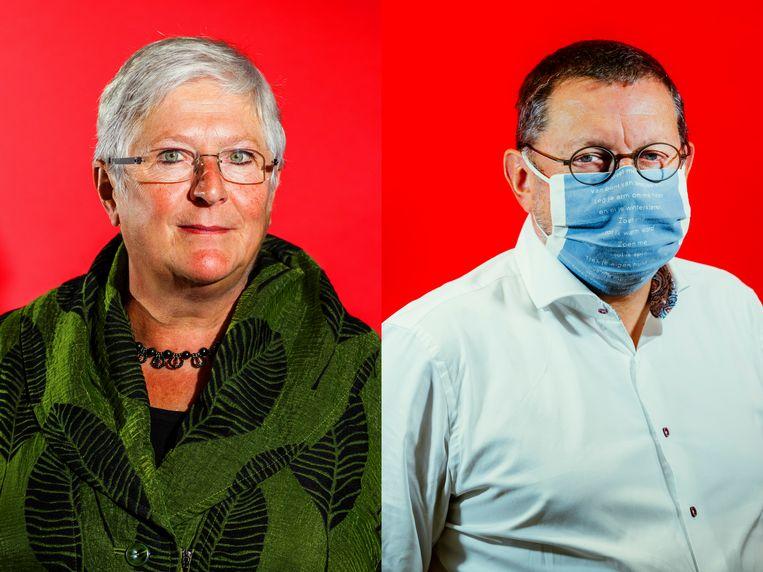 Mieke Vogels en Geert Polfliet. Beeld © Bob Van Mol / Stefaan Temmerman