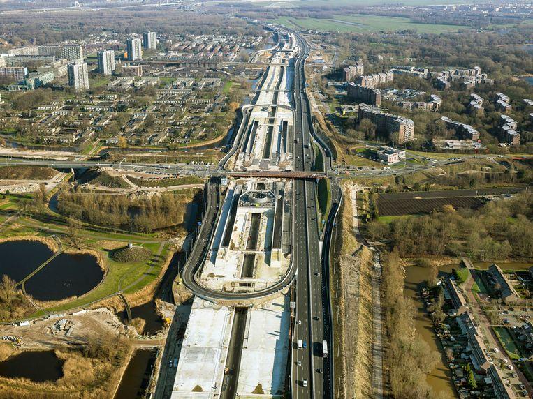 De aanleg van de tunnel begon in 2015. Beeld Irvin van Hemert - Rijkswaterstaat
