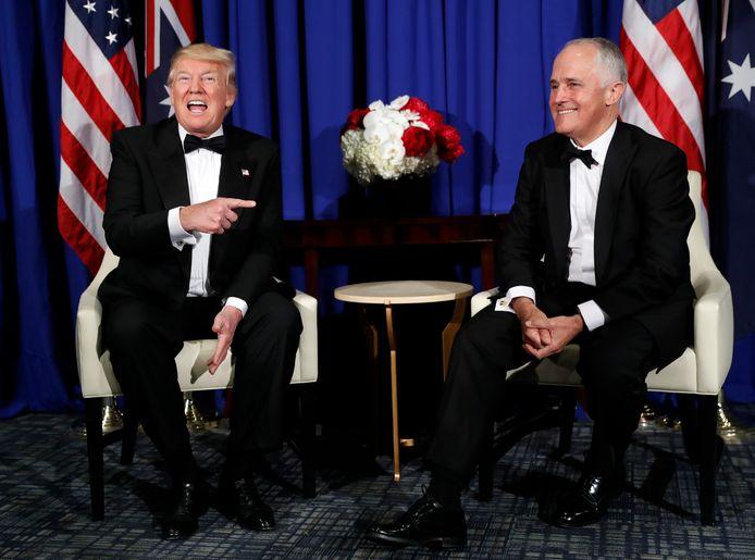Donald Trump en Australisch premier Malcolm Turnbull.