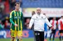 Aanwinst Peet Bijen en ADO-coach Aleksandar Rankovic.