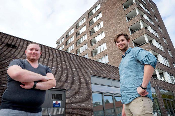 Marcus van Manen (l) en Martijn Verstelle (r) voor De Saffier.