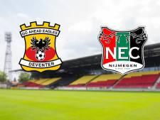 LIVE | Doelpuntenfestijn bij Go Ahead Eagles-NEC: zes goals in eerste helft