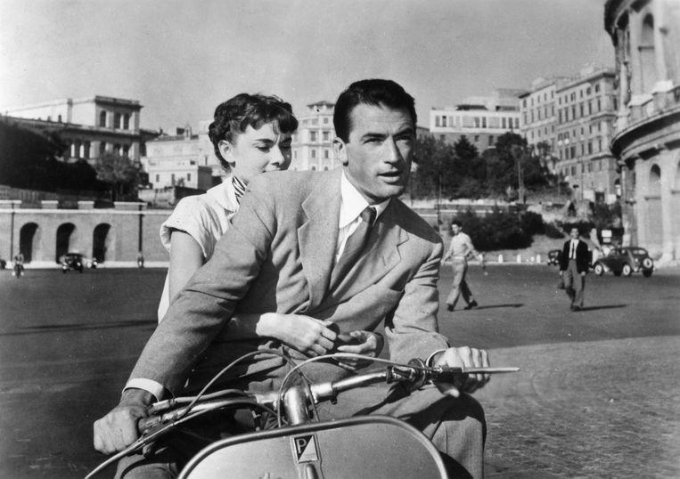Beeld uit de film Roman Holiday (1953) van William Wyler.   Beeld HH