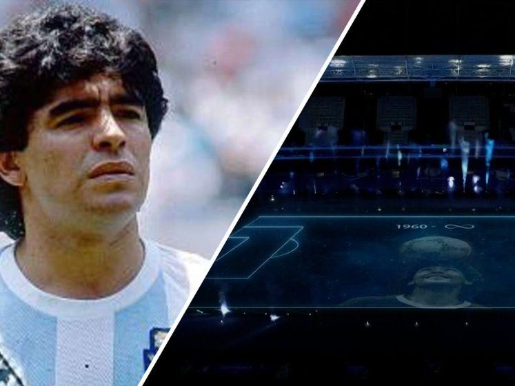 Spectaculair eerbetoon aan Diego Maradona bij Copa América