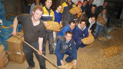 KLJ trekt de baan op met 8.000 kilo aardappels