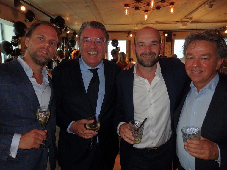 Simon Raedts (Vastgoedfonds Nederland), Remt Melles (Hockey Republic), Jacco Goossens (Gassan Diamonds) en Yves Gijrath (Masters of LXRY). Beeld Schuim
