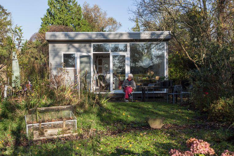 De volkstuin Tuinpark Nieuw Vredelust in Zuidoost. Beeld Tammy Van Nerum