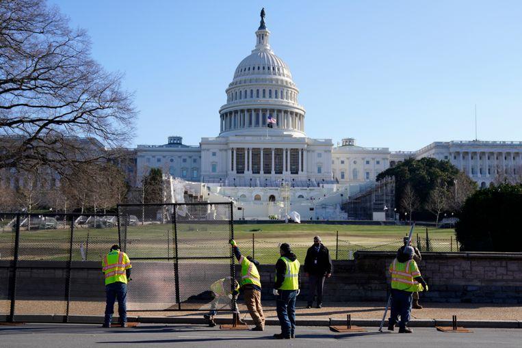 Het Witte Huis een dag na de bestorming van het Capitool.  Beeld EPA
