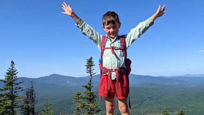 Harvey (5) uit Virginia is een van jongste hikers die pad van 3530 kilometer door Appalachen afwandelt