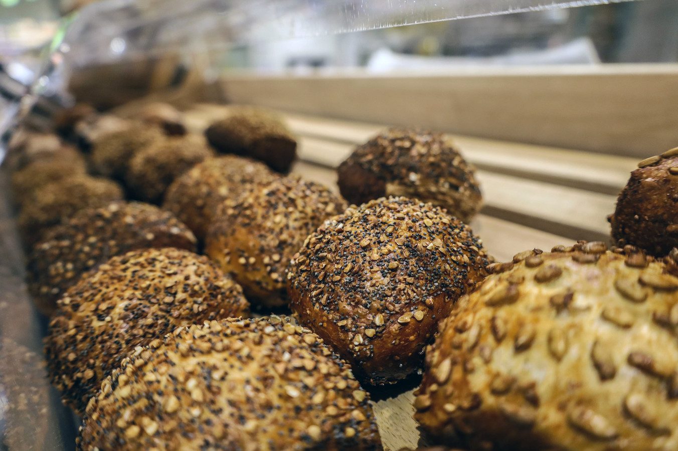 Verse broodjes in een van de supermarkten van Jumbo.