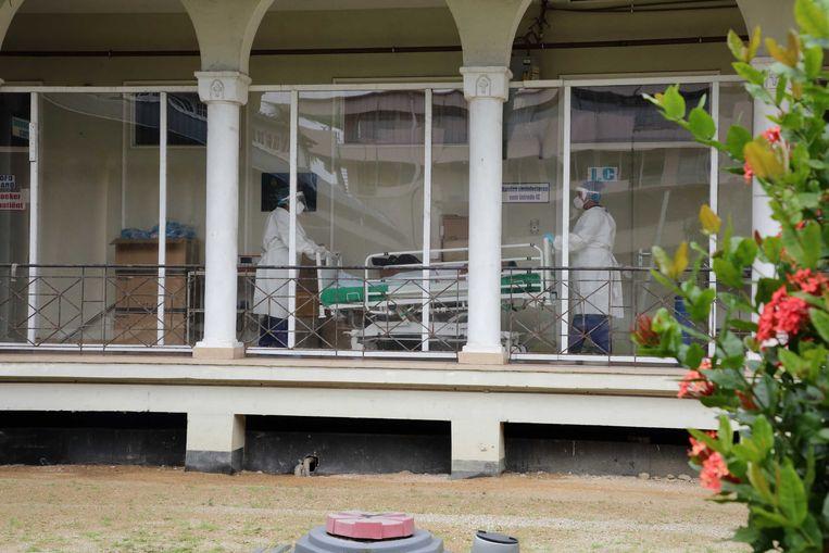 Suriname kampt met 300 besmettingen per dag. Landelijk zijn er slechts 35 ic-bedden.  Beeld ANP